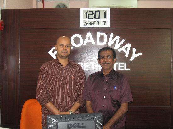 Broadway Budget Hotel : Myself with Mr.Arshad