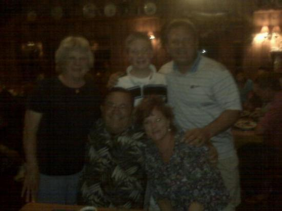 Manitowish Waters, WI: Dinner at Little Boehiema with my parents in Wisconson
