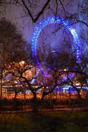 The London Eye New Year S Eve Fireworks From My Hotel Balcony