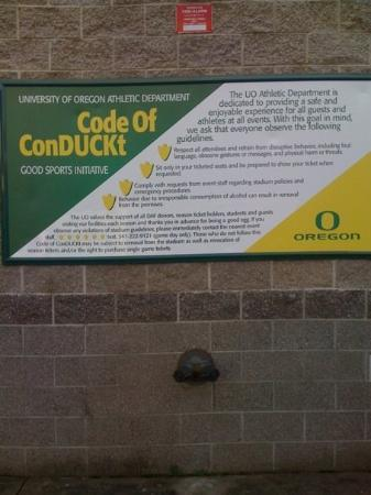 Eugene, OR: I took this right after the legal issues came up with the Duck Football team!