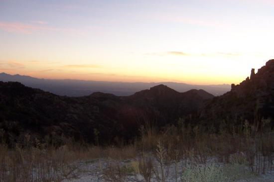 Mount Lemmon, AZ: Sunset over Tucson from the Santa Catalina Mountains