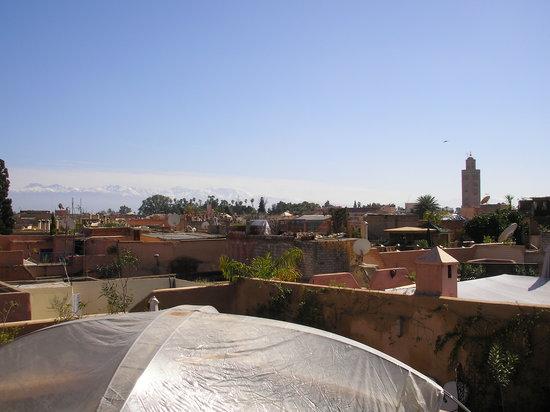 Riad Zohar: vue de la terrasse