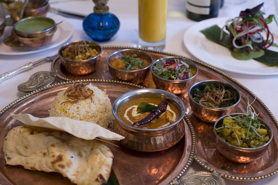 Indian Zing Thali Dish