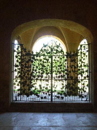 Abbaye de Fontfroide - intricate iron gate