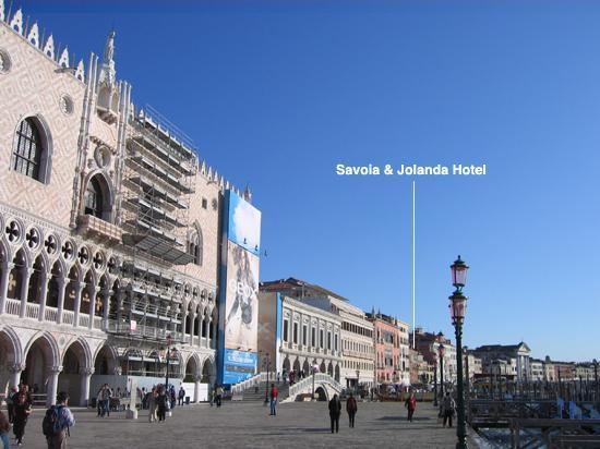 Savoia & Jolanda Hotel: Waterfront view towards Savoia & Jolanda