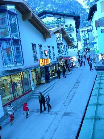 Österreichischerhof: our bedroom view of the street below
