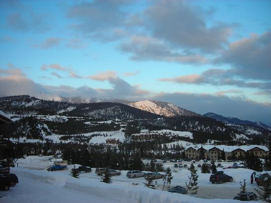 Beaverhead Condos: View from the picture window and deck