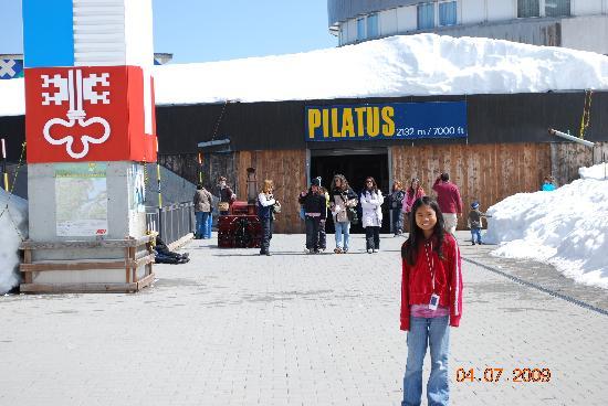 On the summit of Mount Pilatus Kulm