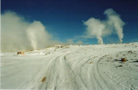 Tupiza, Bolivia: Geysers after the snow, at about 12,000 ft. elevation