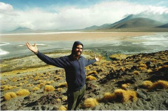 Tupiza, Bolivia: Cale at the red lagoon.