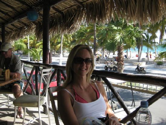 Isla Mujeres, Mexico: View from hotel posada del mar bar