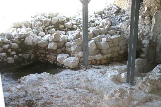 Jerusalem Walls - City of David National Park: Walls of King David's palace
