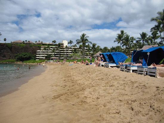 Beach area in front of Sheraton Maui