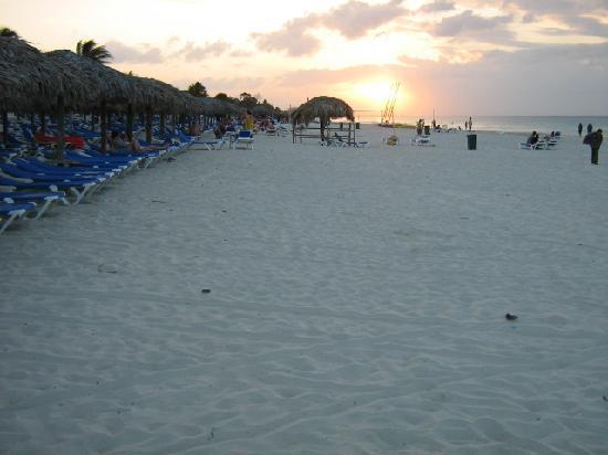 coucher de soleil vers Varadero