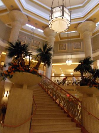 Stairway to the lobby