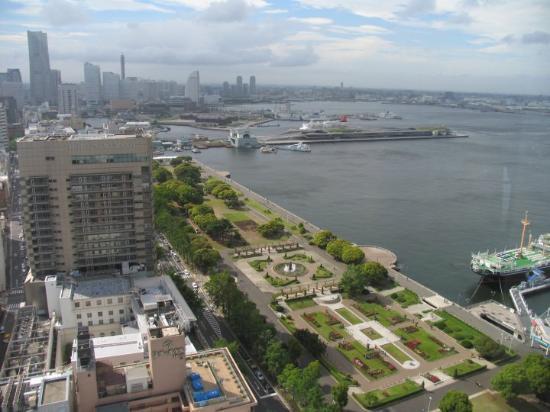 Looking out over Yokohama Harbor from Yokohama Tower