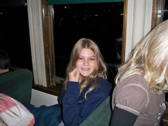 Flagstaff, AZ: Getting settled on the train - Grand Canyon Railway - Polar Express!