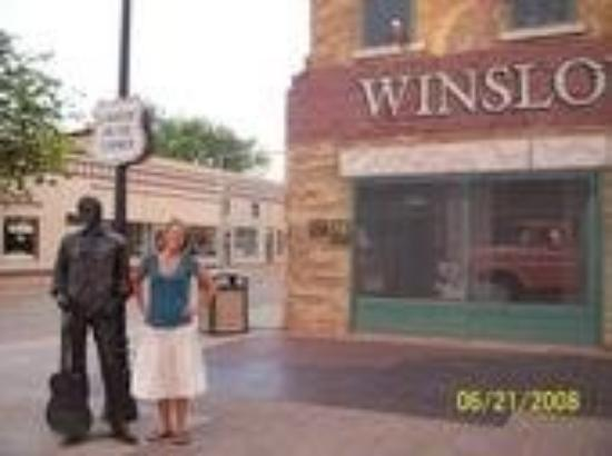 Standing on the corner in Winslow, Arizona!!! Takin it eaaasy!