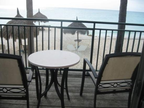 Divi Village Golf and Beach Resort: our hotel room patio-awesome ocean/beach view