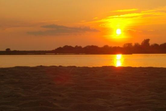 ship bottom at sunset