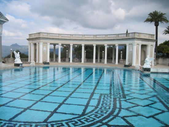 Indoor pool the ladders are made of marble picture of - Hearst castle neptune pool swim auction ...