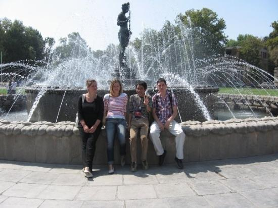 Khujand, Tayikistán: With my IAESTE friends from Germany and IAESTE staff