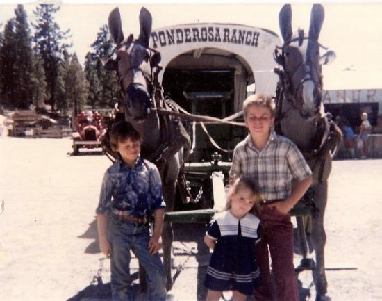 Gayville, SD: Michael David, Michael Anthony and I at the Ponderossa Ranch