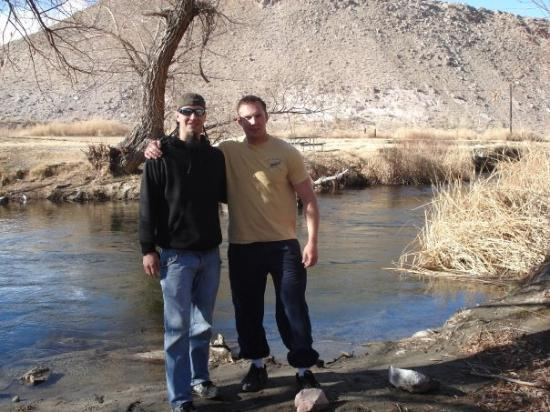 Bishop, CA: Me with Zee at the Lower Owens River