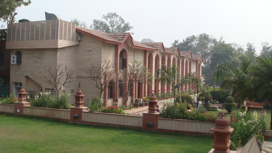 Ashok Country Resort: The main hotel building.