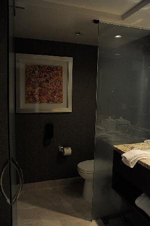 ARIA Resort & Casino: Glass enclosure for toilet
