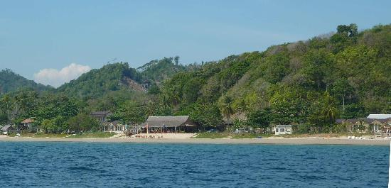 Amantra Resort North side from sea at high tide