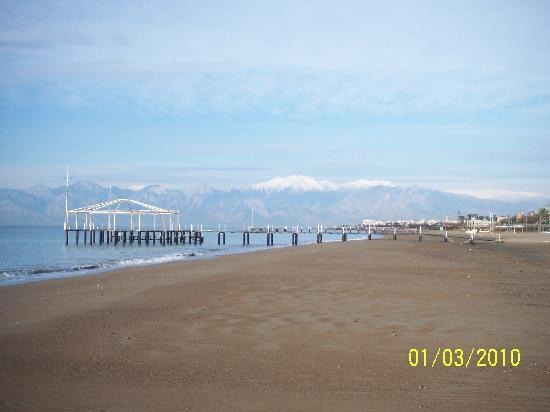 View of Mountains from the Beach