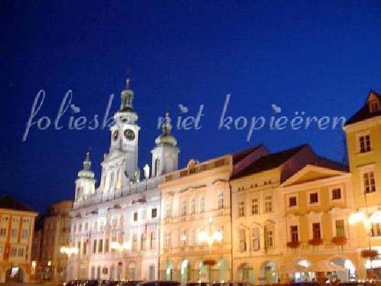 Ceske Budejovice, Czech Republic: citylights