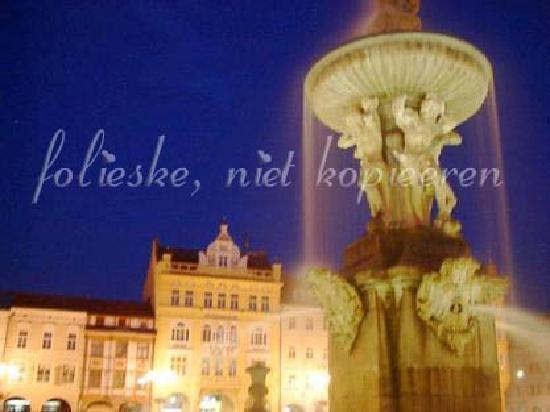 Ceske Budejovice, Czech Republic: the fountain