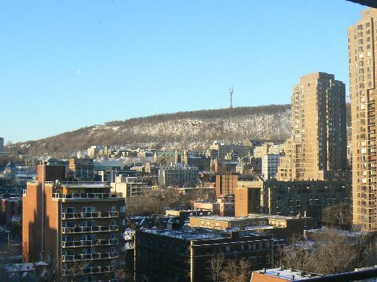 Appartements Trylon : Vue sur le MontRoyal depuis le 11ème étage