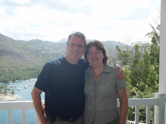 Marigot Bay, St. Lucia: Normand & Louise