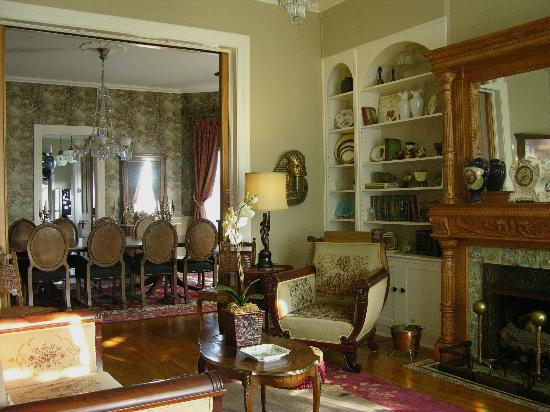 The Hammack-Moore House Bed & Breakfast: Living and Dining Rooms