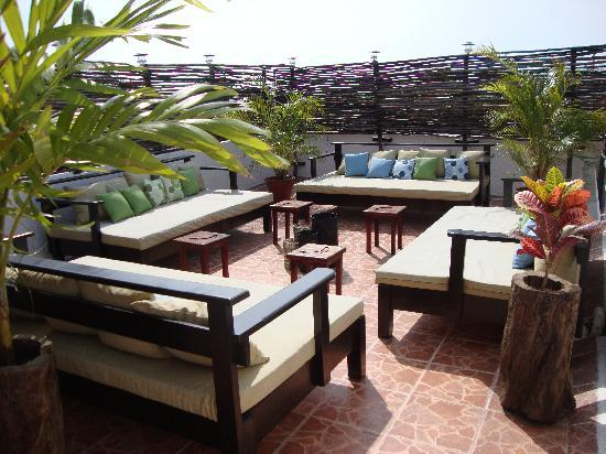 Posada Luna del Sur: Sitting area for reading, relaxing, having a few drinks with friends - nicely lit at night