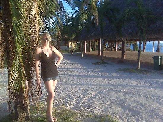 InterContinental Bora Bora Le Moana Resort: Me at the beach just across the street from the hotel.  This is the best place on the island to
