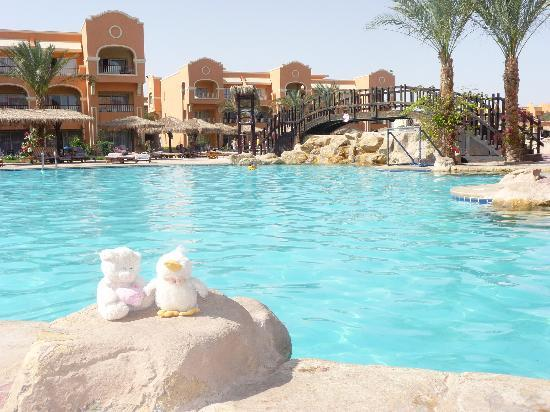 Caribbean World Resorts Soma Bay: duck n ted at the heated pool 8am