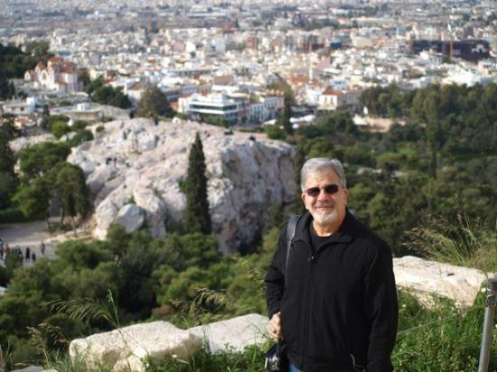 Athens Walking Tours: Mars Hill - The Areopagus from the Acropolis