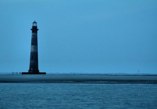 Morris Island Lighthouse: Extinguished - The old lighthouse at Folly Beach no longer shines.  There is a newer one in the