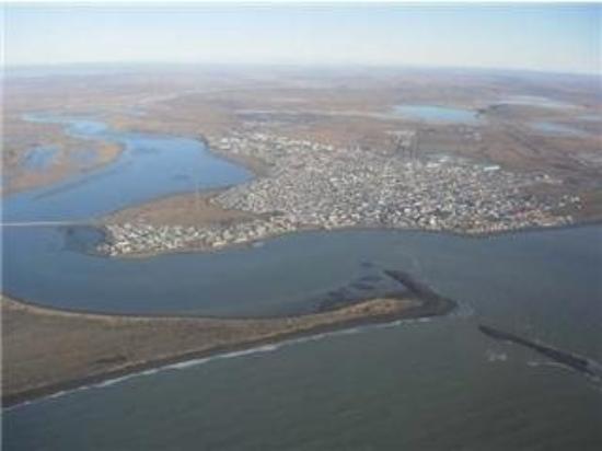 Esta es una foto aerea de Río Grande, Tierra del Fuego