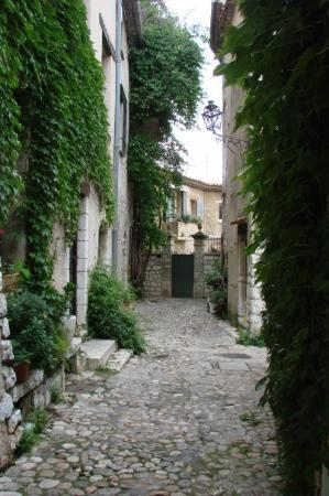 St-Paul-de-Vence, Frankrike: Ivy and bouginvilla seem to grow without hesitation everywhere.