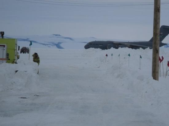 McMurdo Station: on approach to the ramp