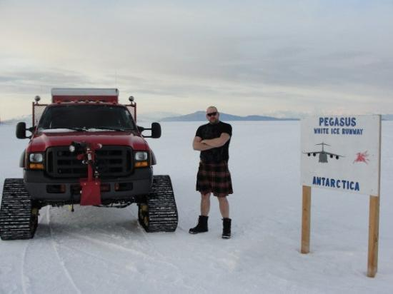 McMurdo Station: The Pegasus Airfield Sign, and a Renegade - 5am