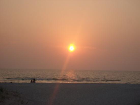 Beach Walk : clearwater beach sunset..