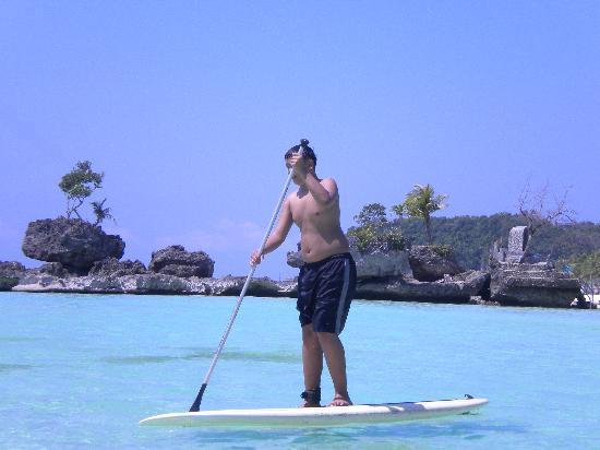 """Boracay Beach Club: my son learning the """"wave-dance"""""""