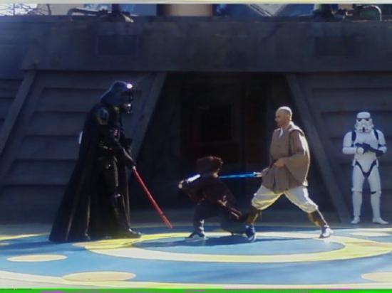 Luke fighting Darth Vader Jedi Training Academy  Picture of