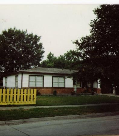 This is our house at 1908 Cleveland St. in Pasadena, TX.  When we lived there the picket fence w